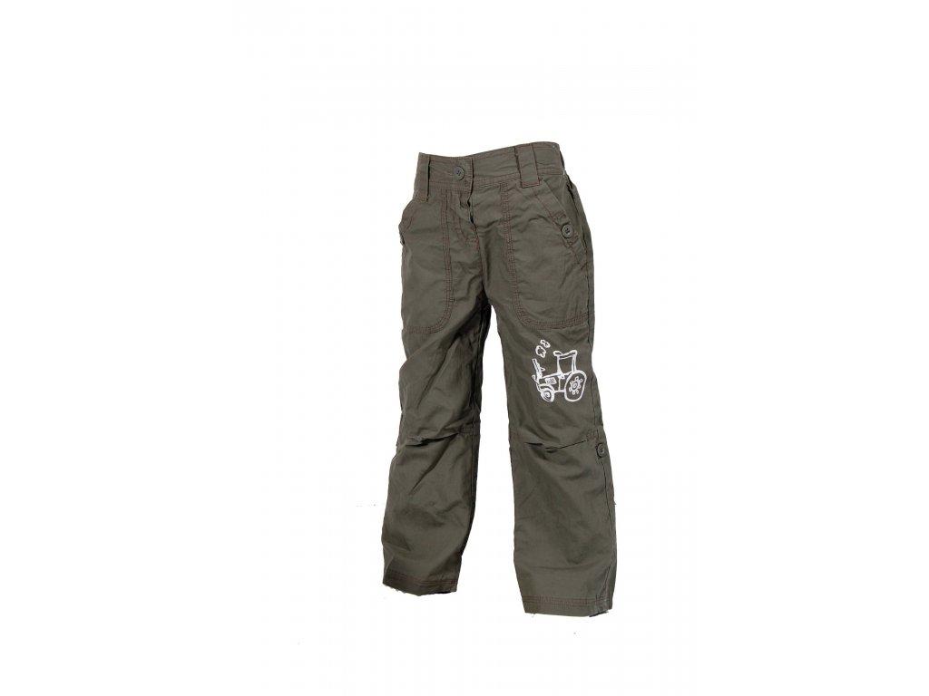 Dětské kalhoty PIDILIDI s podšívkou khaki PD0340-19 2019