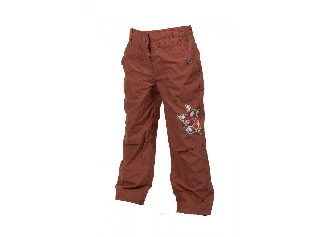 Dětské kalhoty PIDILIDI s podšívkou hnědá PD0340-18 2019