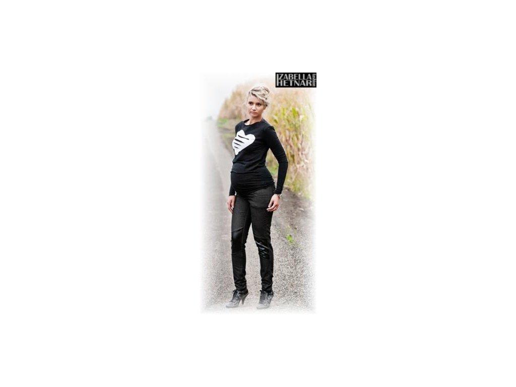Těhotenské kalhoty/jeans NANA - černý jeans 2019
