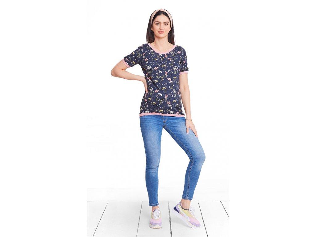 Těhotenské kalhoty Happymum City grey pants 2020