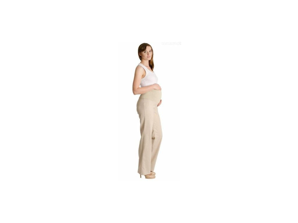 Lněné kalhoty, rovné - letní - béžové 2020