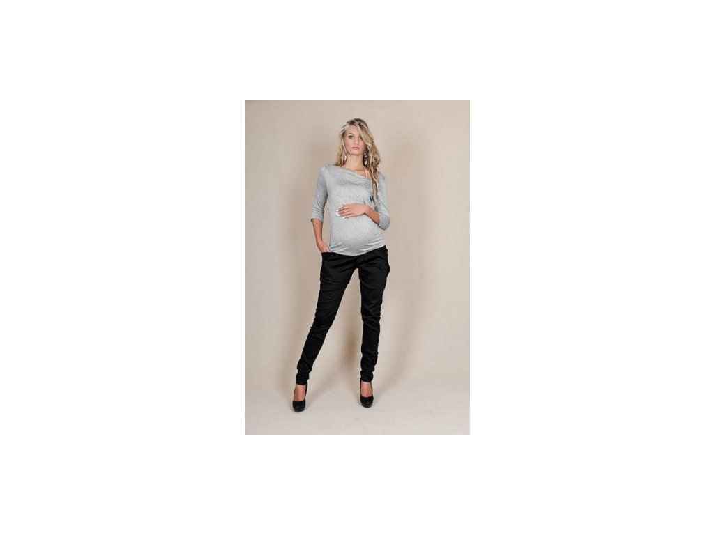 Těhotenské kalhoty ALADINKY - Černé 2019