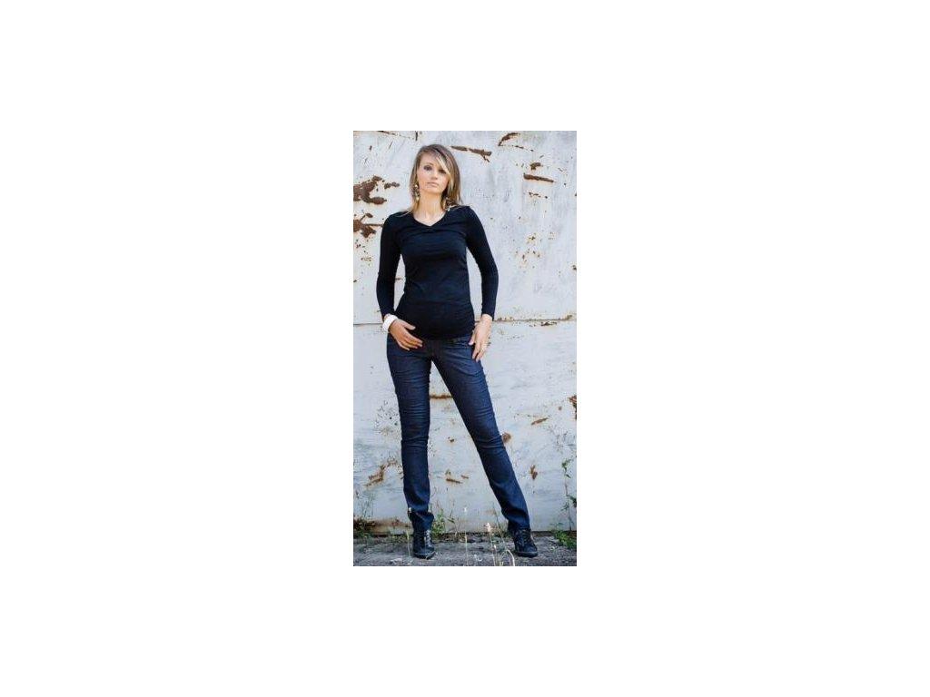 Těhotenské kalhoty JEANS - Granát 2019
