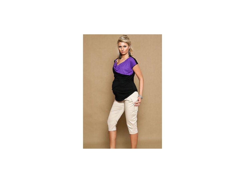Těhotenské kalhoty ALADINKY 3/4 - béžové 2019