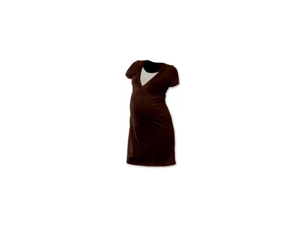 Těhotenská, kojící noční košile JOHANKA krátký rukáv 2020