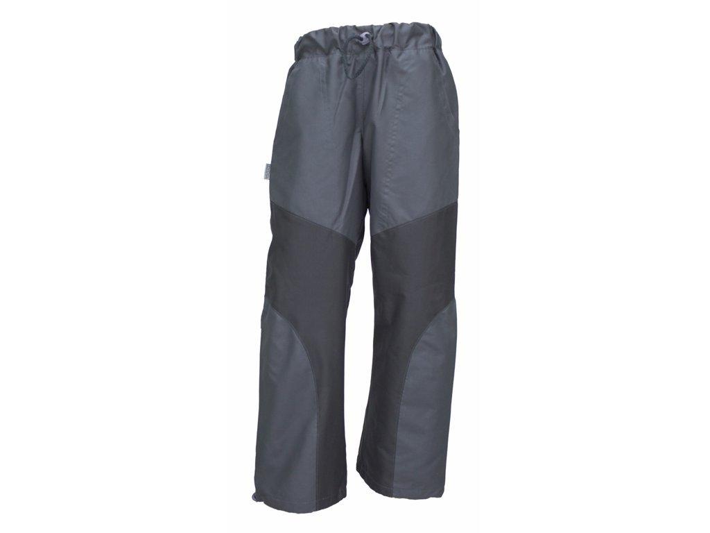 Dětské kalhoty Fantom outdoorové s podšívkou šedá a růžová 2020