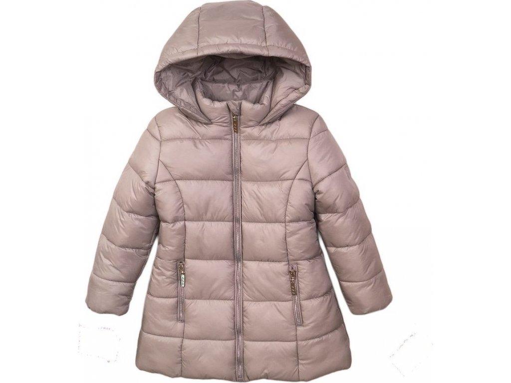 Kabát dívčí prošívaný Puffa, Minoti, JW2126, stříbrná