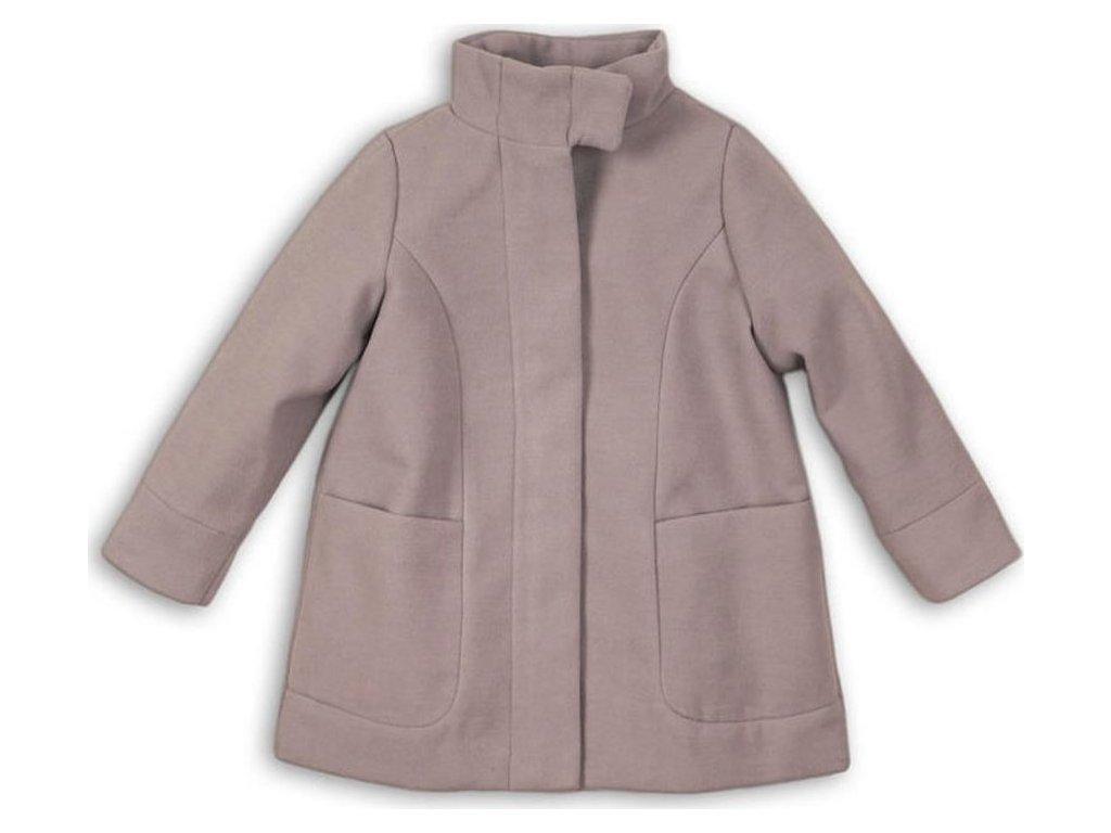 Kabát dívčí vlněný s vysokým límcem, Minoti, ARTISAN 10, šedá