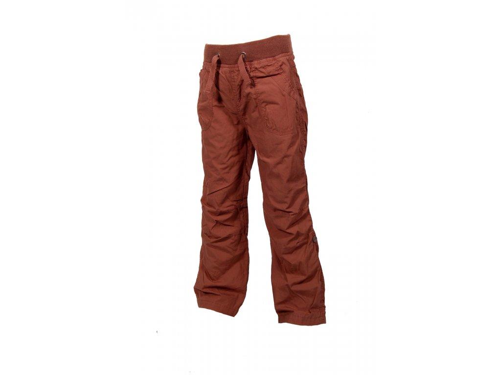 Kalhoty s podšívkou ROLL'UP PIDILIDI PD0341-18 - hnědé 2019