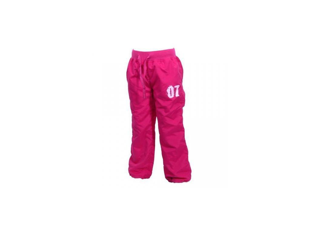 Zateplené kalhoty s bavlněnou podšívkou PD0712-03 - růžová 2021