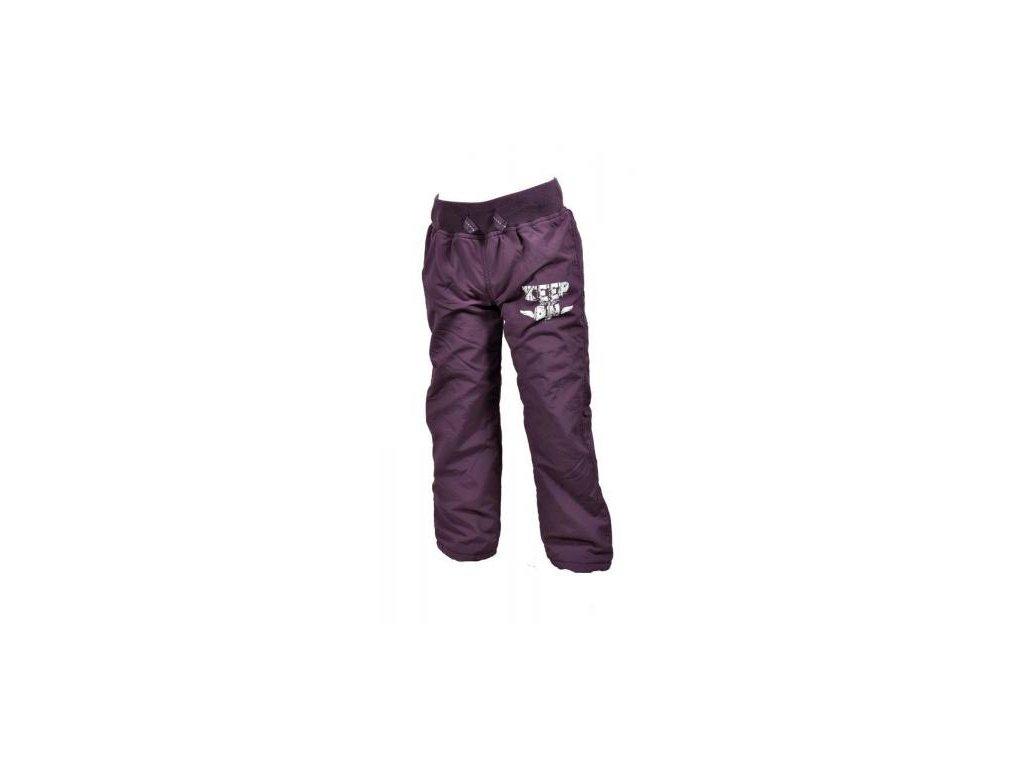 Zateplené kalhoty dívčí s bavlněnou podšívkou vel.86-140 PD0712-06 - fialová-2021