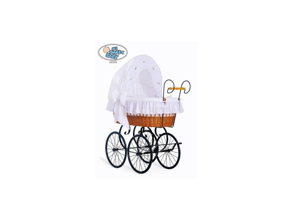 Proutěný retro koš na miminko MY SWEET BABY - DOMÁCÍ KOČÁREK > varianta 2100-080  2022