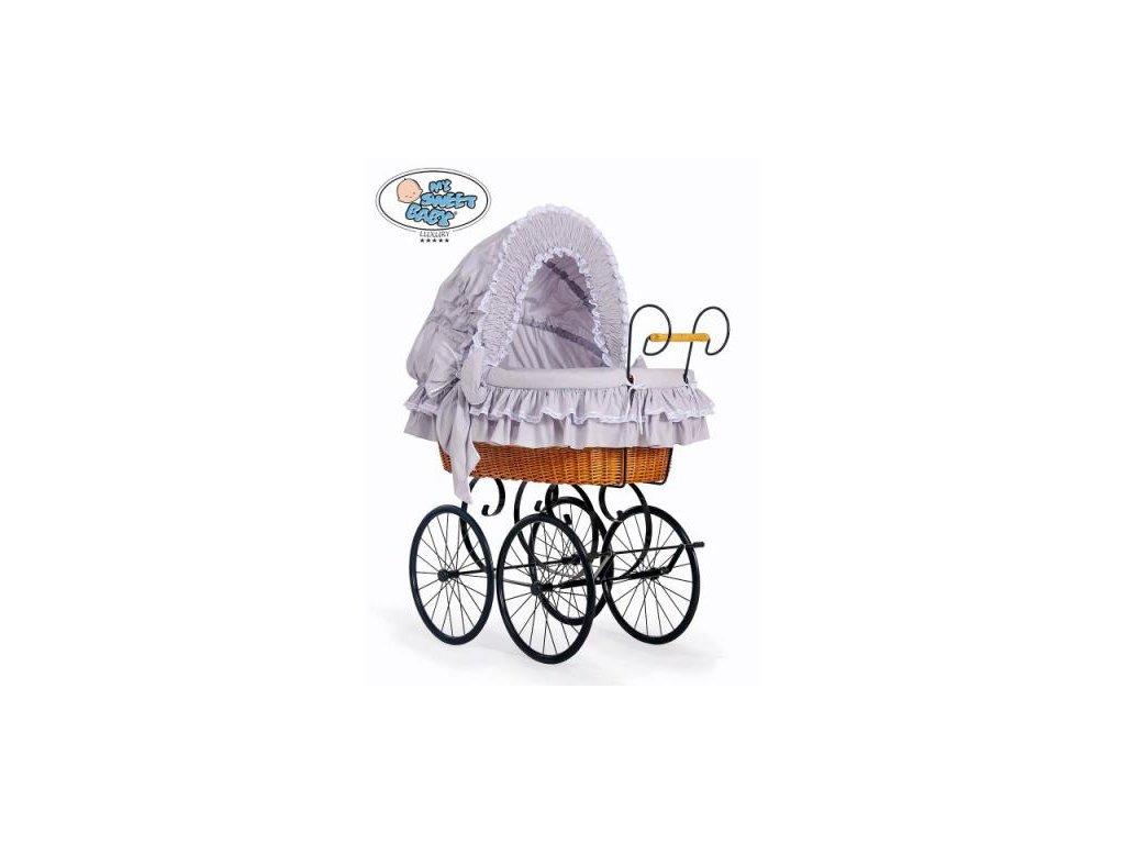 Proutěný retro koš na miminko MY SWEET BABY - DOMÁCÍ KOČÁREK > varianta 2100-370 2021