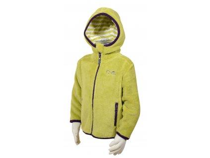 Dívčí mikina s kapucí PIDILIDI PD0957-20 žlutá 2021