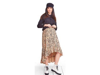 Těhotenská sukně Happymum Tulip skirt černá 2020