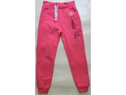 Dívčí růžové tepláky Wendee vel. 116 TU0508-03 růžová 2020