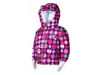 Zimní bunda pro nejmenší PIDILIDI PD0979-03 vel.80-98 - růžová-2019