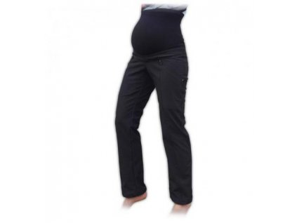 Sportovní těhotenské oteplené softshellové kalhoty 2019