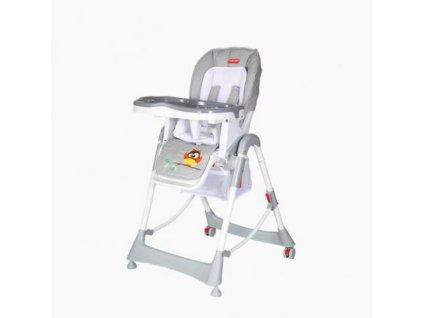 Dětská jídelní židlička Patron TROLL Owl light grey