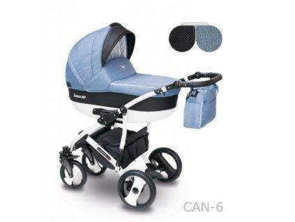 Kombinovaný kočárek Camarelo Carera new Can-6-modrá-černá 2021  + rukávník zdarma