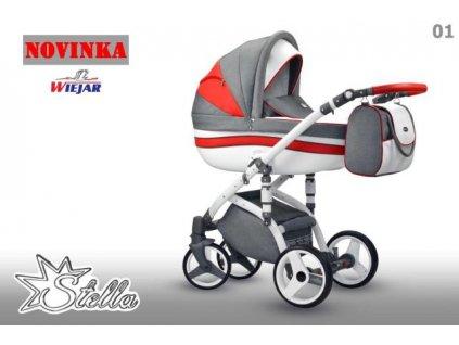 Kombinovaný kočárek WIEJAR Stella 01 2021  + rukávník zdarma