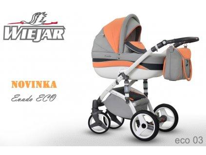 Kombinovaný kočárek WIEJAR Stella 03 2021  + rukávník zdarma