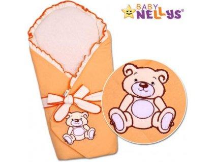 Zavinovačka s výztuží TEDDY BEAR Baby Nellys - jersey - losos/meruňka 2020