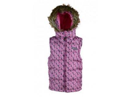 Dívčí vesta PUFFY Pidilidi PD1011-03, růžová 2020