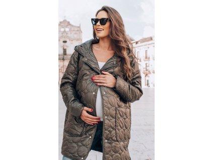 Těhotenský svetr Happymum Nordic grey cardigan 2018