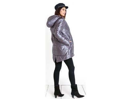 Těhotenský svetr Happymum Nordic grey cardigan 2020
