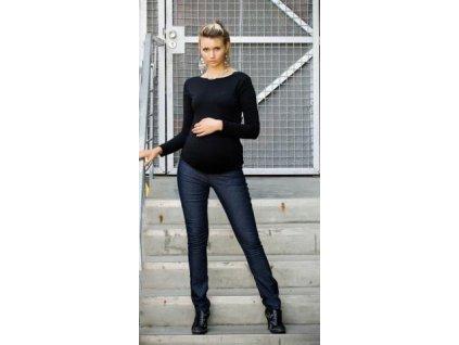 Těhotenské kalhoty JEANS - Černý jeans  2019
