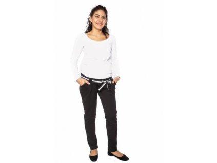 Těhotenské tepláky,kalhoty MONY - černé 2020
