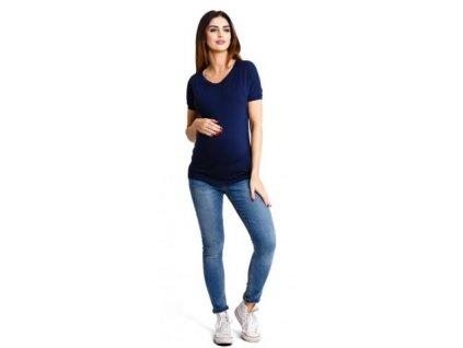 Těhotenské halenka Happymum Milka navy top 2021