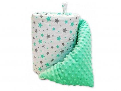 Mantinel do postýlky BABY-TEX 180cm hvězda růžová 2018