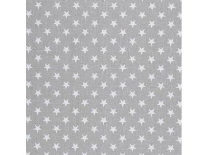Mantinel do postýlky BABY-TEX 360cm bílá hvězda na šedé 2018