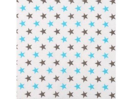 Mantinel do postýlky BABY-TEX 360cm tyrkys hvězda 2018