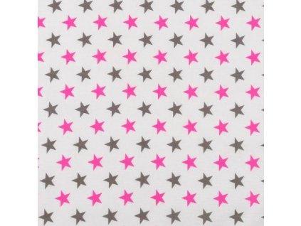 Nebesa na postýlku BABY-TEX růžová hvězda 2021