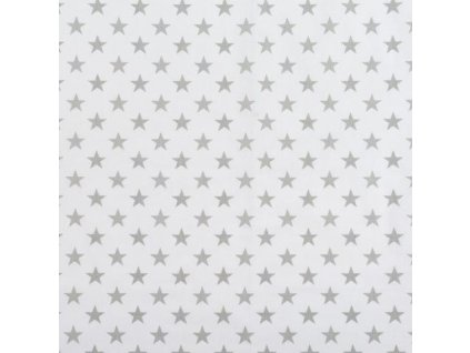 Nebesa na postýlku BABY-TEX šedá hvězda na bílé 2020