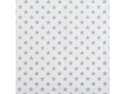 Nebesa na postýlku BABY-TEX šedá hvězda na bílé 2021