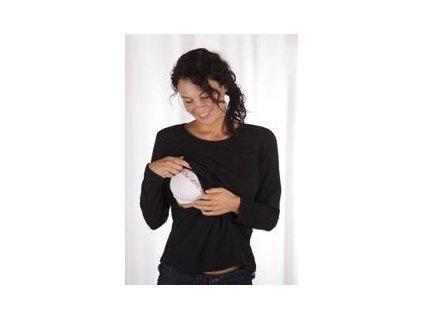 Carriwell triko pro kojení dlouhý rukáv JENNA - ČERNÉ 2020