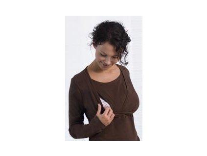 Carriwell triko pro kojení dlouhý rukáv KAJ - HNĚDÉ 2020