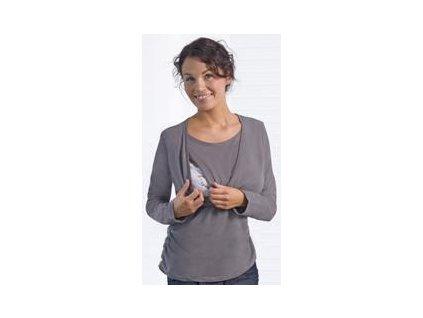 Carriwell triko pro kojení dlouhý rukáv KAJ - ŠEDÉ 2020