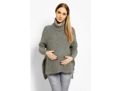 Volný vlněný těhotenský, kojící svetřík, pončo ALLYX 2020
