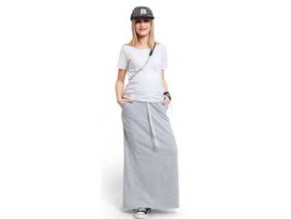 Těhotenská sukně Happymum City long skirt 2021