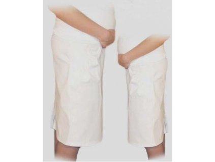 Těhotenská sportovní sukně s kapsami bílá - 2020