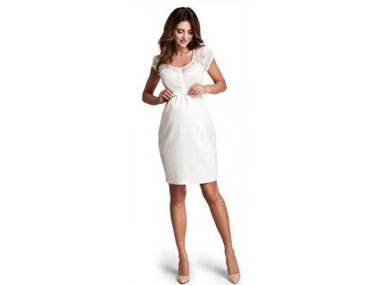 Těhotenské šaty Magic cream D760c 2020