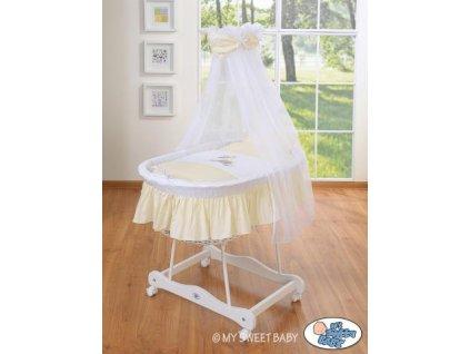 Bílý proutěný koš na miminko MY SWEET BABY s nebesy - OSLÍK LUKY > varianta 79690e-813 2022