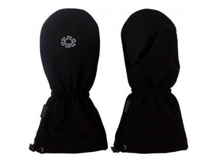 Zimní rukavice SOFTSHELL sněhové s reflexním tiskem-černá 2020