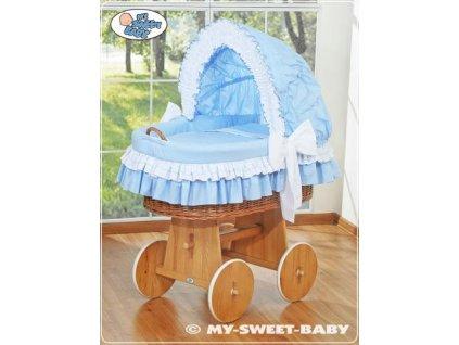 Luxusní proutěný koš na miminko s kompletní výbavou My Sweet Baby > varianta 58962-109 2022