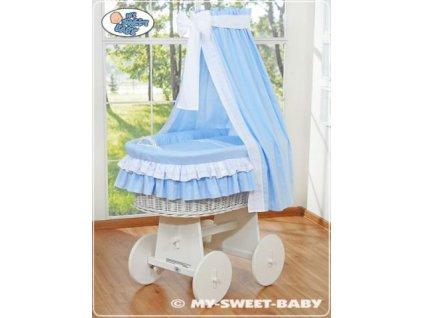 Proutěný koš BÍLY na miminko My Sweet Baby - DOMÁCÍ LUXUSNÍ KOČÁREK > varianta 79582-109 2019